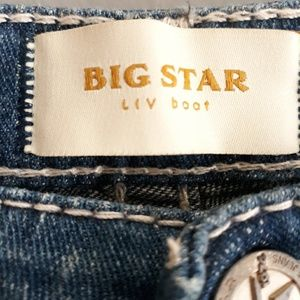 Big Star Liv Boot Distressed Jeans Size 27L